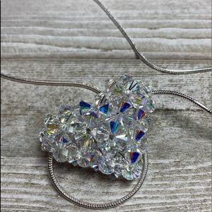 """Swarovski Crystal ❤️ """"Crystal AB"""" Pendant on 925"""